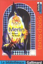 Couverture du livre « MERLIN » de Robert De Boron aux éditions Gallimard