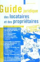 Couverture du livre « Guide juridique locataires et proprietaires ; 3e edition » de Alain Delorme aux éditions Seconde Edition