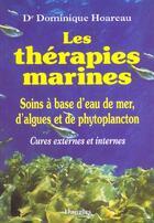 Couverture du livre « Therapies marines » de Dominique Hoareau aux éditions Dangles