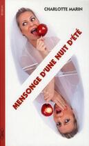 Couverture du livre « Mensonge d'une nuit d'été » de Charlotte Marin et Marion Michaud aux éditions Michel Lafon