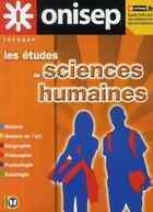 Couverture du livre « Les études de sciences humaines » de Collectif aux éditions Onisep