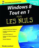 Couverture du livre « Windows 8 tout en 1 pour les nuls » de Woody Leonhard aux éditions First Interactive