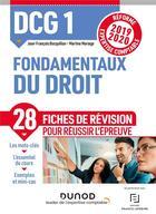 Couverture du livre « DCG1 ; fondamentaux du droit ; fiches de révision ; réforme 2019/2020 ; réforme expertise comptable 2 » de Bocquillon/Mariage aux éditions Dunod