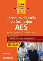 Couverture du livre « Concours d'entrée en formation AES ; accompagnant éducatif et social ; tout-en-un (édition 2019/2020) » de Agnes Busko aux éditions Studyrama