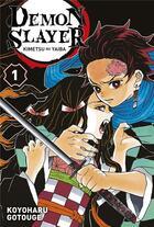 Couverture du livre « Demon slayer T.1 » de Koyoharu Gotoge aux éditions Panini