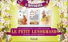 Couverture du livre « Le petit Lenormand ; le coffret de la cartomancie » de Marie Delclos aux éditions Trajectoire