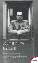 Couverture du livre « Journal intime de Nicolas II » de Nicolas Ii aux éditions Perrin