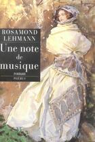 Couverture du livre « Une Note De Musique » de Rosamond Lehmann aux éditions Phebus