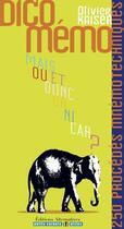 Couverture du livre « Dico mémo » de Olivier Kaiser aux éditions Alternatives