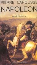 Couverture du livre « Napoléon » de Pierre Larousse aux éditions Memoire Du Livre