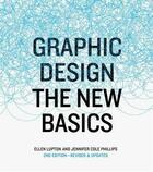 Couverture du livre « Graphic design the new basics, revised and updated (paperback) » de Ellen Lupton aux éditions Princeton Architectural