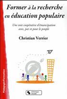 Couverture du livre « Pédagogie/formation » de Christian Verrier aux éditions Chronique Sociale