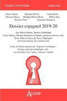Couverture du livre « Dossier espagnol 2019 » de Helene Roy et Mariana Di Cio et Philippe Merlo-Morat aux éditions Atlande Editions