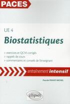 Couverture du livre « Ue4 - statistiques (exercices et qcm corriges - rappels de cours) » de Friant-Michel Pascal aux éditions Ellipses