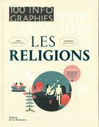 Couverture du livre « 100 infographies pour connaître les religions » de Matthieu Grimpret et Marylou Darmon aux éditions La Martiniere