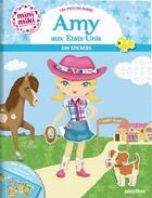 Couverture du livre « Minimiki - les petites robes d'amy aux etats-unis - stickers » de Julie Camel aux éditions Play Bac