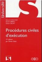Couverture du livre « Procédures civiles d'exécution (13e édition) » de Daniel Lebeau et Gerard Couchez et Olivier Salati aux éditions Sirey
