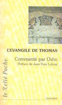 Couverture du livre « L'évangile de Thomas » de Osho aux éditions Relie