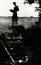 Couverture du livre « Triangle isocèle » de Elena Balzamo aux éditions Marie Barbier