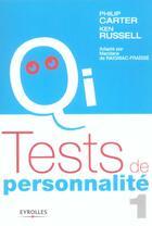 Couverture du livre « Test De Personnalite T.1 » de Philip Carter et Ken Russell aux éditions Organisation