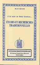 Couverture du livre « A La Suite De Rene Guenon Etudes Et Recherches Traditionnelles T. 2 » de Jean Reyor aux éditions Traditionnelles