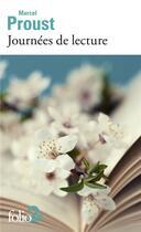 Couverture du livre « Journées de lecture » de Marcel Proust aux éditions Gallimard