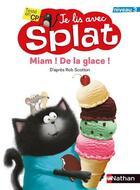 Couverture du livre « Miam ! de la glace ! niveau 3 » de Rob Scotton aux éditions Nathan