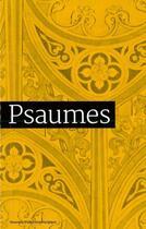 Couverture du livre « Psaumes » de Aelf aux éditions Emmanuel
