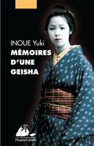 Couverture du livre « Mémoires d'une geisha » de Yuki Inoue aux éditions Picquier
