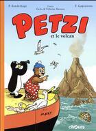 Couverture du livre « Petzi et le volcan » de Thierry Capezzone et Per Sanderhage aux éditions Chours