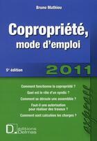 Couverture du livre « Copropriété, mode emploi (édition 2010/2011) » de Bruno Mathieu aux éditions Delmas