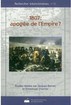 Couverture du livre « 1807 : apogée de l'empire ? » de Jacques Bernet aux éditions Pu De Valenciennes