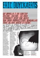 Couverture du livre « Eric duyckaerts ; qu'appelle-t-on sortir ? » de Collectif aux éditions Monografik