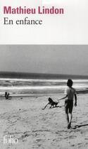 Couverture du livre « En enfance » de Mathieu Lindon aux éditions Gallimard