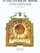 Couverture du livre « Le Balancier Du Monde » de Jean-Claude Beaune aux éditions Champ Vallon