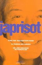 Couverture du livre « Ecrit par jean-baptiste rossi » de Sebastien Japrisot aux éditions Denoel