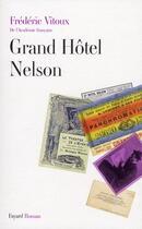 Couverture du livre « Grand hôtel Nelson » de Vitoux-F aux éditions Fayard