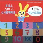 Couverture du livre « Bill aime les chiffres ; I love numbers » de Alex Sanders et Pierrick Bisinski aux éditions Gallimard-jeunesse