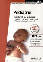 Couverture du livre « Pédiatrie » de Vincent Gadjos aux éditions Elsevier-masson