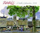 Couverture du livre « Desk calendar Paris (édition 2019) » de Fabrice Moireau aux éditions Pacifique