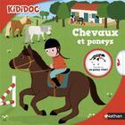 Couverture du livre « Les chevaux et les poneys » de Sylvie Baussier et Nathalie Choux et Elise Toublanc aux éditions Nathan