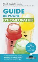 Couverture du livre « Guide de poche d'homéopathie » de Albert-Claude Quemoun aux éditions Leduc.s