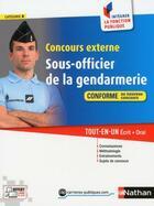 Couverture du livre « Concours externe sous-officier gendarmerie ; catégorie B » de Daniele Bon et Francois Louvrier et Adeline Munier et Morad Mekbel aux éditions Nathan