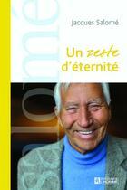 Couverture du livre « Un zeste d'éternité » de Jacques Salome aux éditions Editions De L'homme