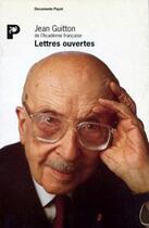 Couverture du livre « Les lettres ouvertes » de Jean Guitton aux éditions Payot