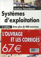 Couverture du livre « Systèmes d'exploitation ; corrigés » de Andrew Tanenbaum aux éditions Pearson