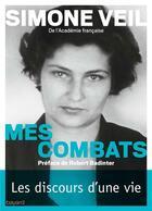 Couverture du livre « Mes combats » de Simone Veil aux éditions Bayard