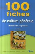 Couverture du livre « 100 Fiches De Culture Generale » de Guislain Nicolle aux éditions Breal