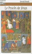Couverture du livre « Le procès de Jésus » de Giovani Rosadi aux éditions Du Paraclet