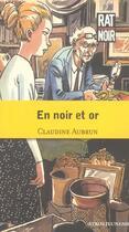 Couverture du livre « En Noir Et Or » de Claudine Aubrun aux éditions Syros